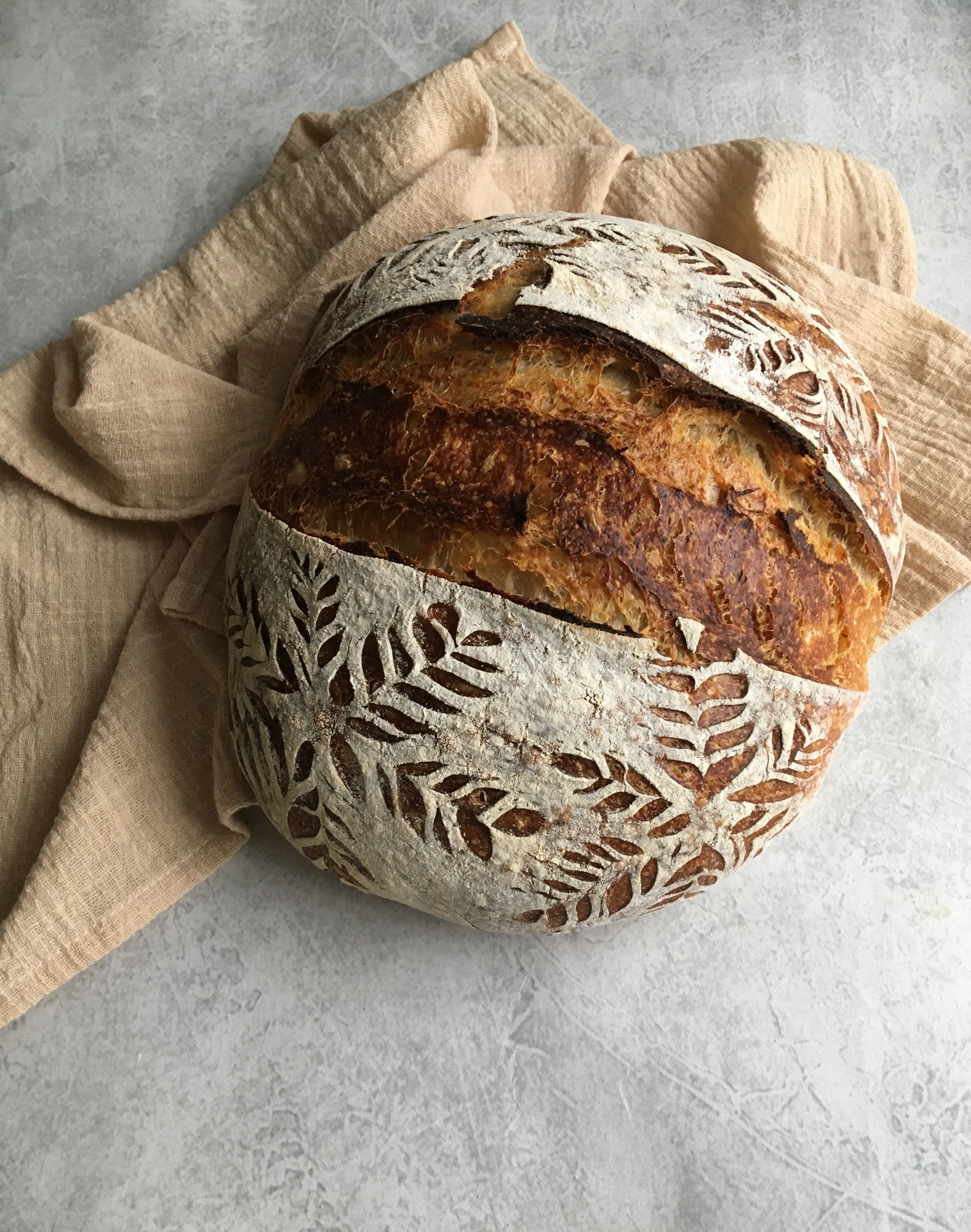 Country Loaf with Discard Sourdough Starter