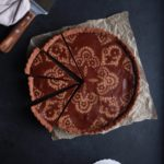 vegan gluten-free chocolate caramel tart