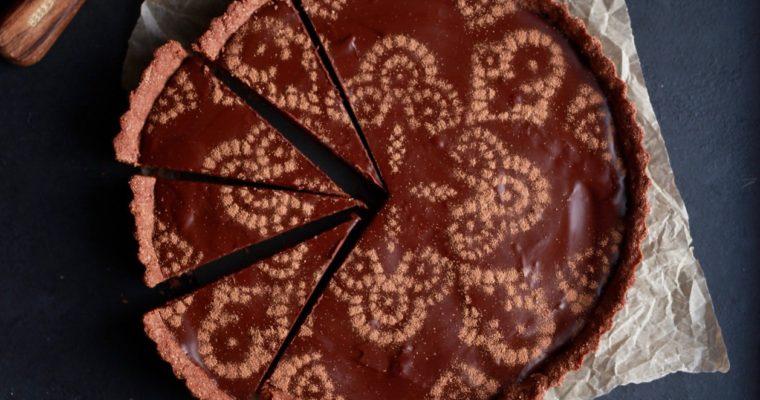 "Vegan, Gluten-Free Chocolate ""Caramel"" Tart"