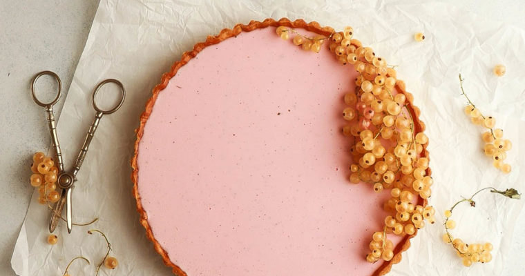 Red Currant-Vanilla Panna Cotta Tart