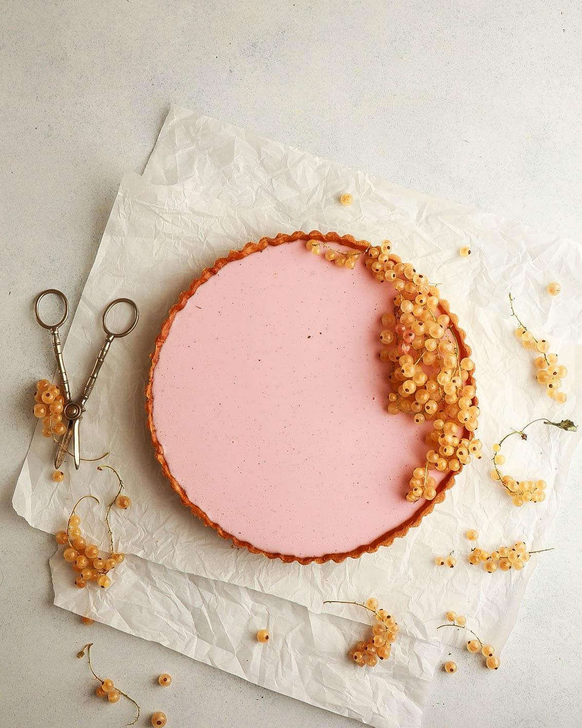 Red Currant-Vanilla Panna Cotta Tart