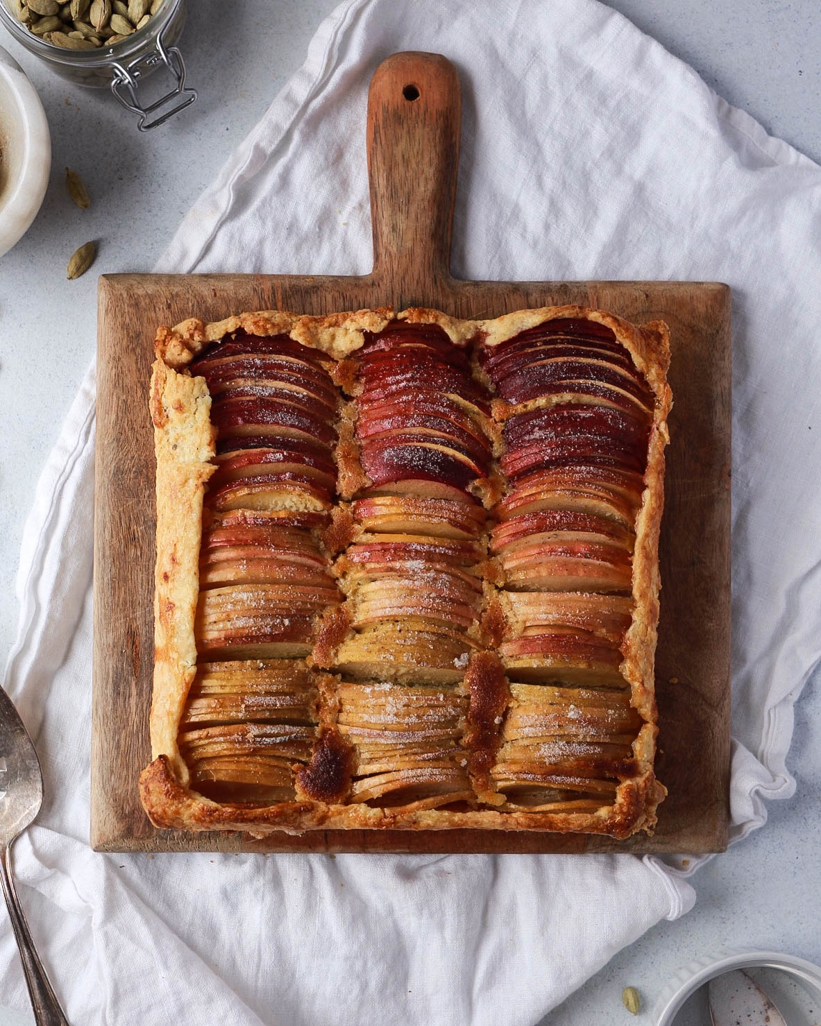 Rustic Ombré Apple Tart with Honey Frangipane