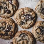Chocolate Chunk, Rye, and Hazelnut Praline Cookies