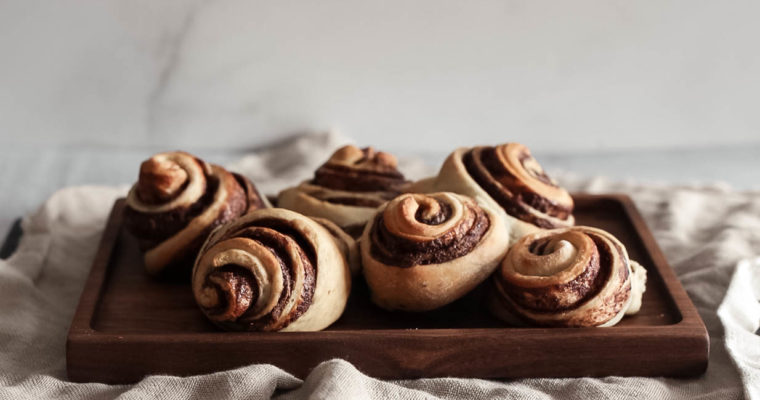 Small Batch Banana Sweet Rolls with Nutella