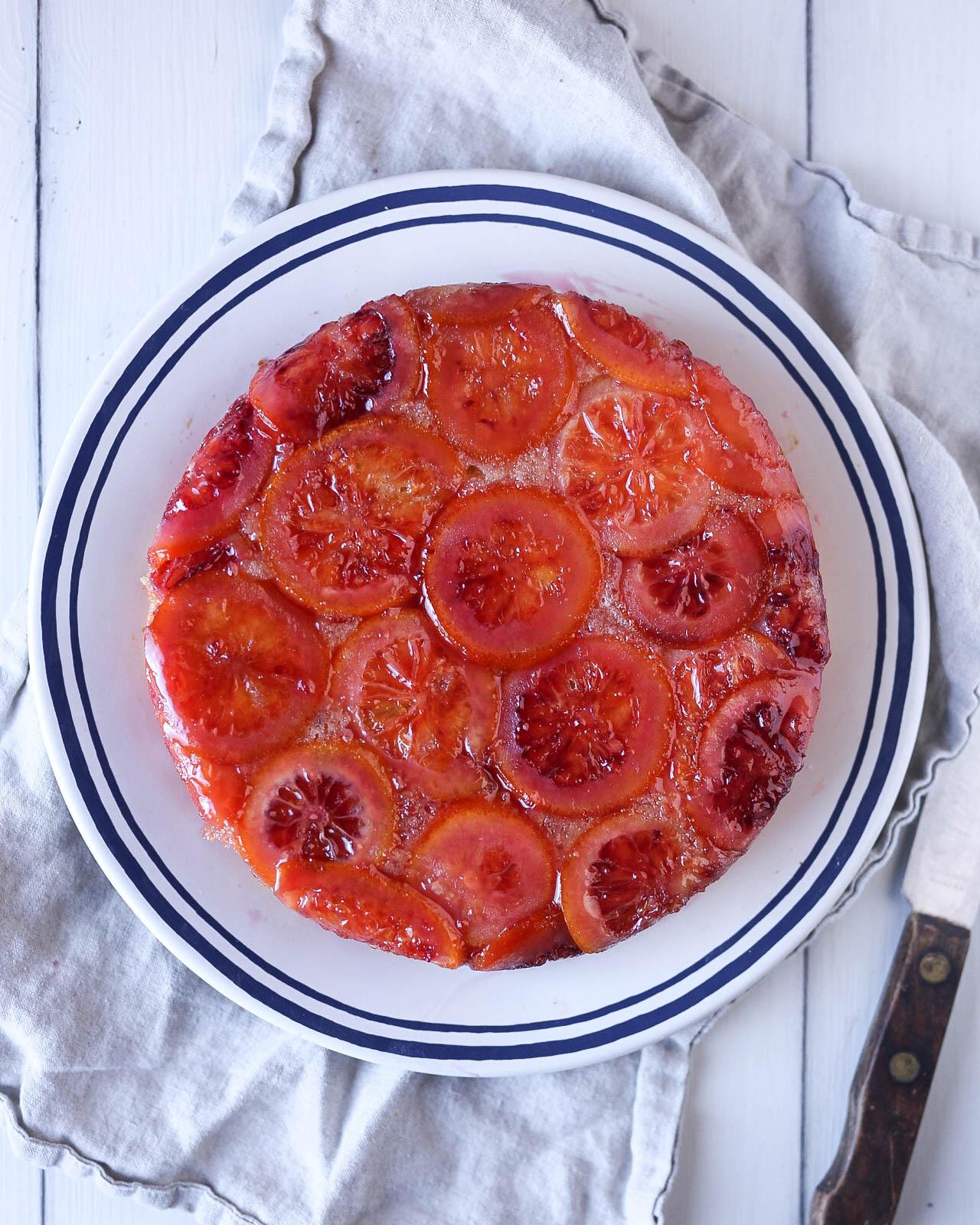 My Favorite Blood Orange Upside Down Cake